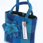 Blue, Turquoise and Navy check Handbag