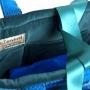 Blue, Turquoise and Navy check Handbag