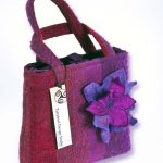 Plum & Cerise Striped Handbag