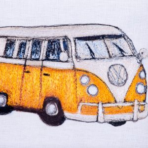 Hand Crafted Volkswagen Van Textile