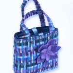 Plum, Blue, Purple Velvet Handbag