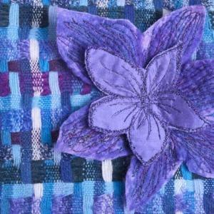 Plum, Blue, Purple Velvet Handbag