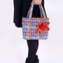 Multi Coloured Check Handbag