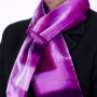Hand Painted Pink and Plum Double Silk Velvet Interlined Tie Scarf