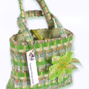 Irish Woven Multi Coloured Green Check Handbag