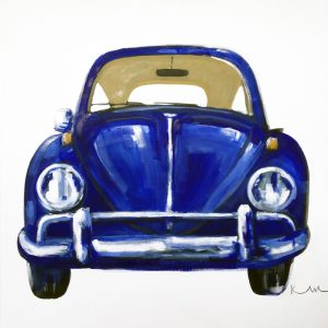 Royal Blue Vintage Beetle