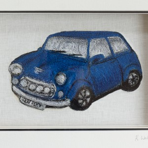 Embroidered Vintage Mini Car