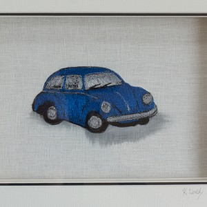 Stitched Blue Vintage Beetle