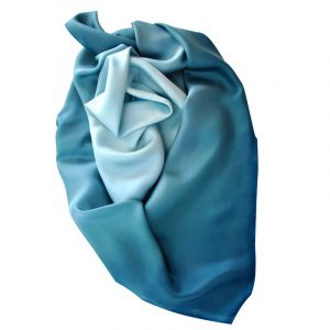 Large Square Teal Green Twill Silk Scarf