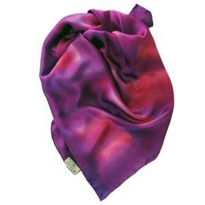 Large square satin silk scarf