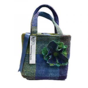 Designer Handbag in Irish Woven Fabrics