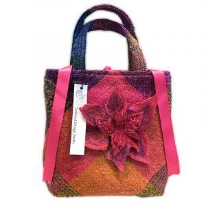 Irish Woven Fabric Designer Handbag