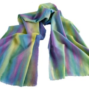 Long Hand-Painted Woollen Scarf