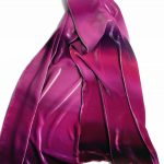 Long Hand Painted Silk Velvet Wrap
