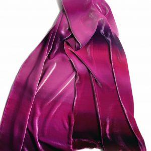 Long Hand Painted Silk Velvet Wrap